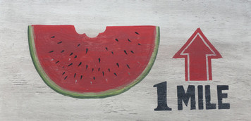 COLORFUL WATERMELON SIGN