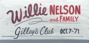 WILLIE NELSON & FAMILY at GILLEYs CLUB