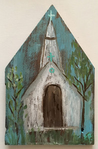 RUSTIC LOUISIANA CHURCH #3 - by Paulette Ford