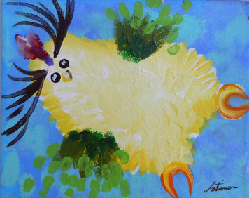 Yellow Baby Guinea Chickateen by Madison Latimer