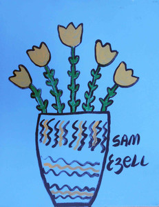 Vase of Tulips by Sam Ezell