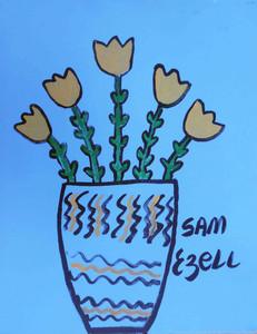 Vase of Tulips by Sam Ezell