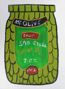 Mt Olive Sour Kosher Dill Pickle Jar by Sam Ezell