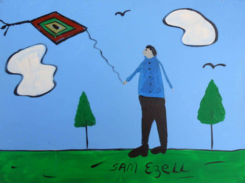 Man Flying a Kite by Sam Ezell