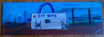 St Louis Famous Eat-Rite Painting by Jaybird
