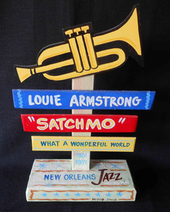 "Louie Armstrong ""Satchmo"" Signpost by George Borum"