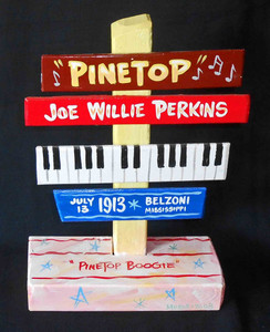 Pinetop Perkins Chess Records Signpost by George Borum
