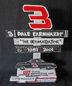 Dale Earnhardt - #3 - Nascar Champ Tribute Signpost by George Borum