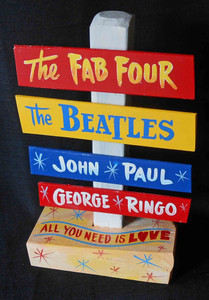 Beatles John Paul George Ringo Signpost by George Borum
