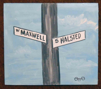 Maxwell St and Halstead St by Chicago Street Artist Otto