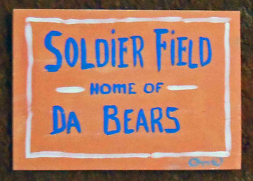 Soldier Field Sign Painting by Chicago Street Artist Otto