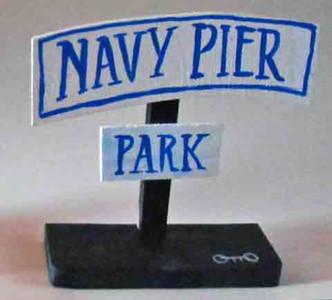 Navy Pier Signpost by Chicago Street Artist Otto