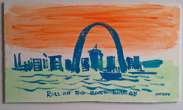 Roll On Mississippi River - Roll On by St Louis Folk Artist Jaybird Jaybird-138