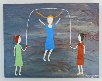 Jumping Rope - Memory Painting by Jimmy W