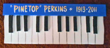Pinetop Perkins Piano Plaque by George Borum