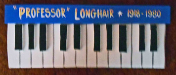 Professor Longhair Piano Plaque by George Borum