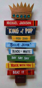 Michael Jackson - King of Pop - Wall Hanging - by George Borum