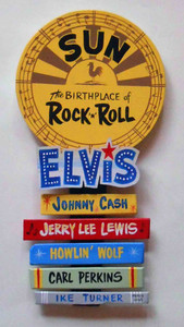 Sun Records Plaque  - Elvis - Lewis - Cash - Perkins - by George Borum