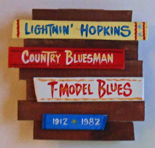 Lightning Hopkins Wall Plaque by George Borum