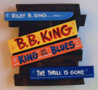 B B King Wall Plaque by George Borum