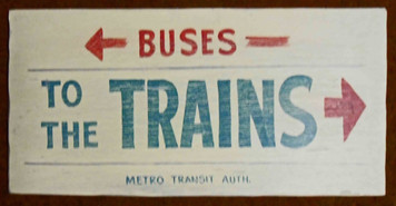 To the BUSES & TRAINS OLD TIME SIGN