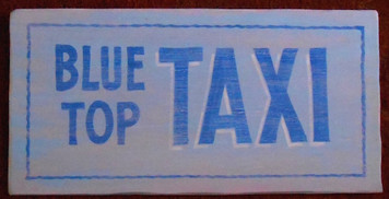 BLUE TOP TAXI SIGN