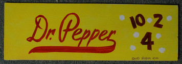 DR PEPPER COLA SIGN by OTTO - Chicago Street Artist