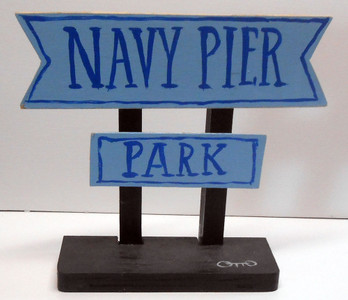 NAVY PIER SIGN POST by OTTO SCHNEIDER
