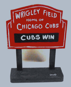 WRIGLEY FIELD SIGNPOST by Otto - Chicago Street Artist