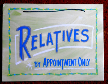 RELATIVES by APPOINTMENT ONLY! - FUNKY SIGN by George Borum