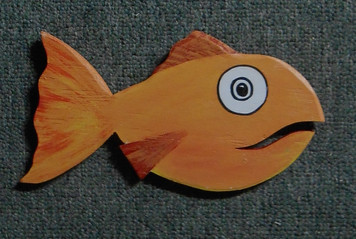 Orange Fish Cut-out Wall Plaque by George Borum