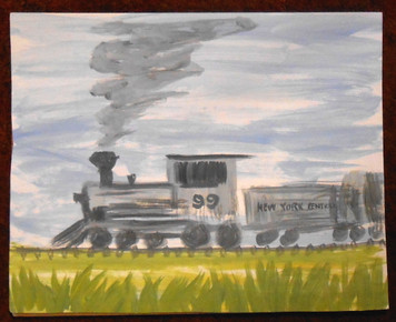 NEW YORK CENTRAL TRAIN PAINTING BY JOHN TAYLOR