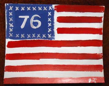 SPIRIT OF 76 AMERICAN FLAG - PATRIOTIC PAINTING BY JOHN TAYLOR