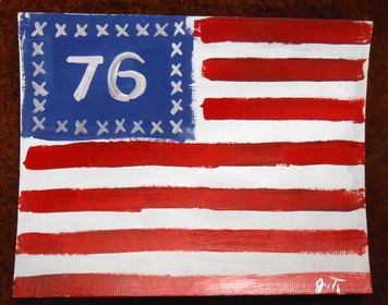 SPIRIT OF 76 AMERICAN FLAG - PATRIOTIC PAINTING BY JOHN TAYLOR
