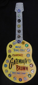 GATE MOUTH BROWN BOTTLE CAP GUITAR BY GEORGE  BORUM
