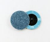 "2"" x 36 Grit Roloc Sanding Disc Blue Zirc"