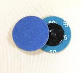 "2"" x 50 Grit Roloc Sanding Disc Blue Zirc"