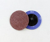 "2"" x 80 Grit Roloc Sanding Disc A/O"