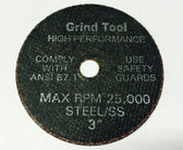"3"" x .040"" x 3/8""  Type 1 Cut Off Wheel"