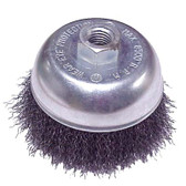 "5"" dia x 5/8""-11 x .020"" Crimped Wire Cup Brush Mild Steel"