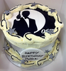 James Bond Photo Cake with Buttercream Swirls