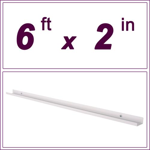 6ft White Picture Ledge