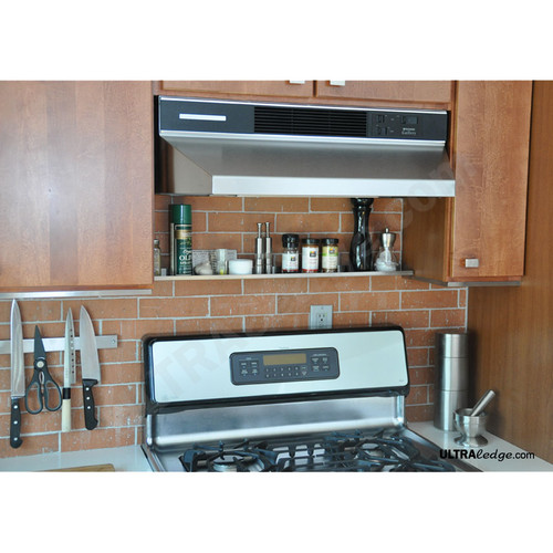 30in stainless steel over the range shelf spice rack 3. Black Bedroom Furniture Sets. Home Design Ideas