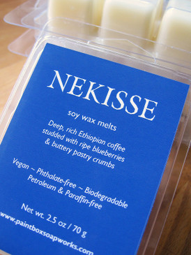 Nekisse Soy Wax Melts - Ethiopian Coffee, Blueberry, Buttery Pastry...