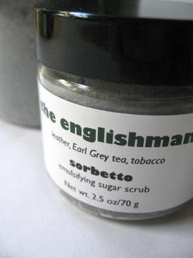 The Englishman Sorbetto Emulsifying Sugar Scrub SAMPLE SIZE - Leather, Earl Grey Tea, Tobacco...