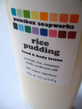 Rice Pudding Organic Hand and Body Lotion - Aromatic Rice, Cinnamon, Vanilla, Condensed Milk...