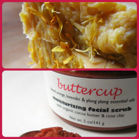 Buttercup Facial Bar and Moisturizing Scrub Skin Set - Blood Orange, Lavender, Ylang Ylang, Goat Milk... Buy Both and Save