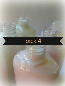 Pick 4 Sample Size Organic Hand and Body Lotions  - FLAT RATE SHIPPING