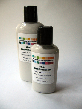 The Englishman Organic Hand and Body Lotion SAMPLE SIZE - Leather, Earl Grey, Tobacco...
