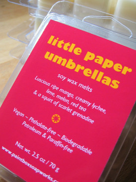 Little Paper Umbrellas Soy Wax Melts - Mango, Lychee, Lime, Red Tea... Limited Edition